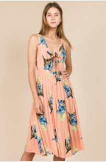 Tropical  Vacay Knot Dress