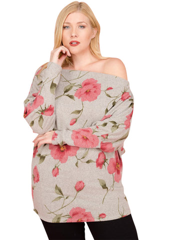 Sweet Rose Off The Shoulder Top