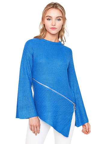 Asymmetric Knit Sweater