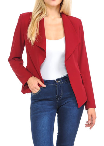Draped Red Blazer