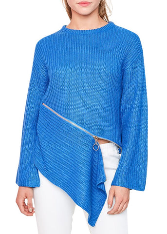 Asymmetric Zip Sweater