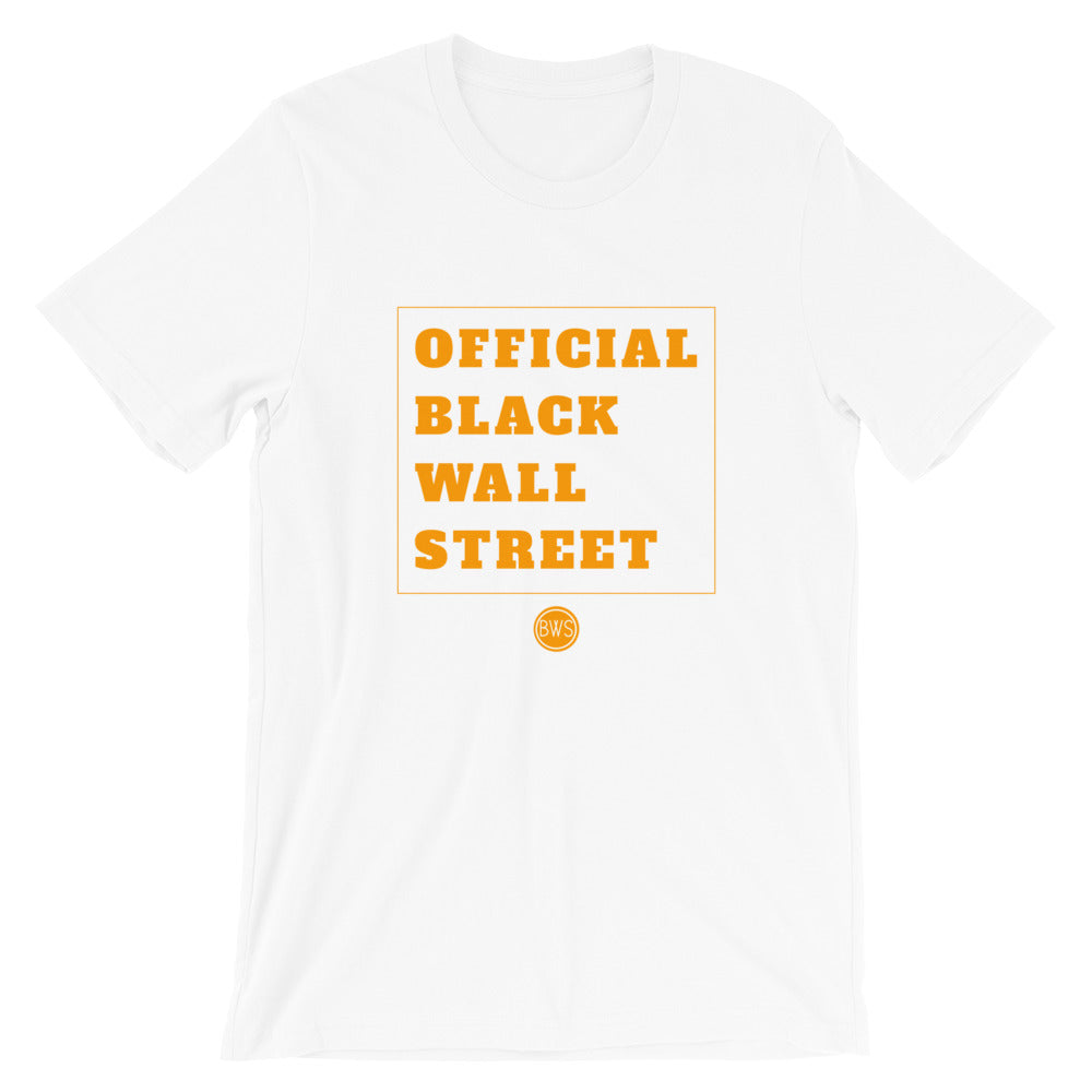 Official Black Wall Street T-Shirt - White/Orange