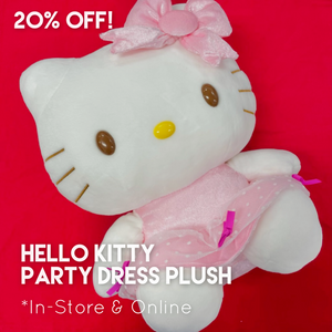 Hello Kitty Pink Party Dress Plush