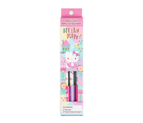 Hello Kitty 3 Pack Pencils with Grip