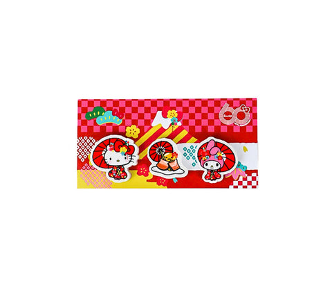 Sanrio Characters 60th Anniversary Eraser Set