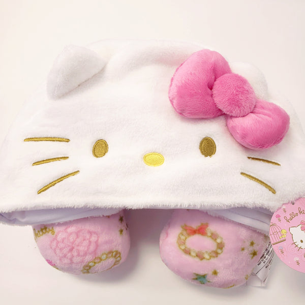Hello Kitty Fairytale Hooded Travel Pillow