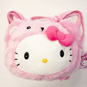Hello Kitty Bear Pink Plush Backpack