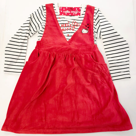 Hello Kitty Girls Red Velvet Dress By Sugarland