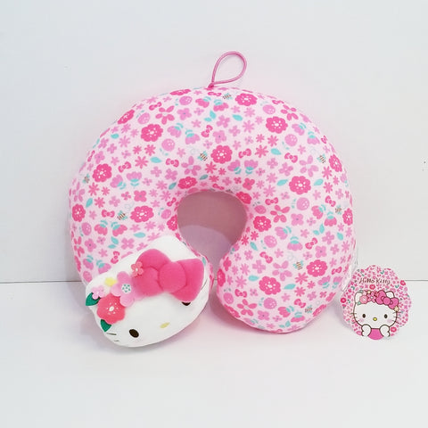 Hello Kitty Flower Crown Travel Pillow