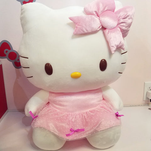 "Hello Kitty Pink Party Dress Plush 24"" XL"