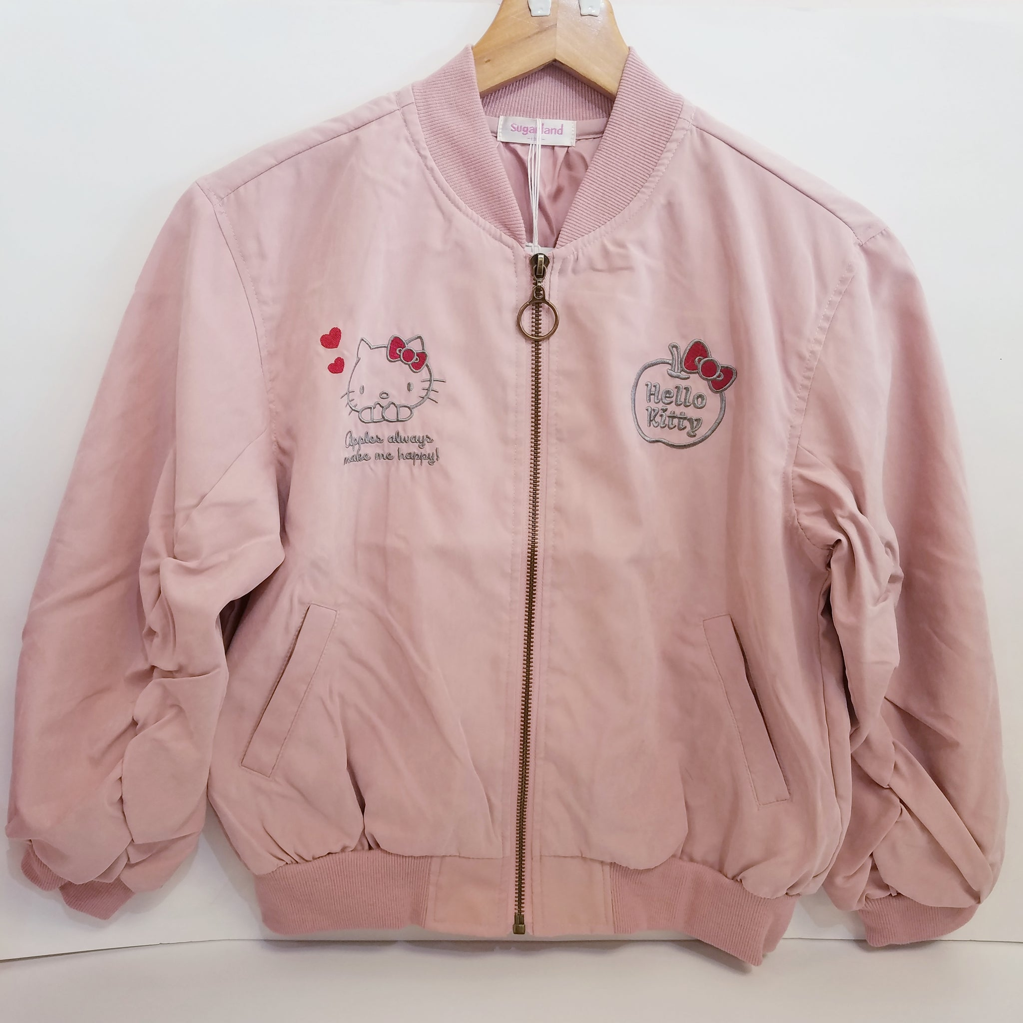 Hello Kitty Pink Girls Bomber Jacket by Sugarland