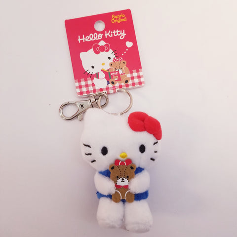 Hello Kitty Mascot Plush Keychain