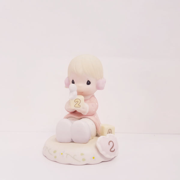 Precious Moments Growing In Grace Blondie Age 2 Figurine