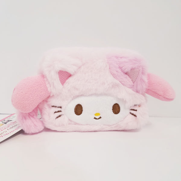 My Melody Happy Cat Furry Pouch