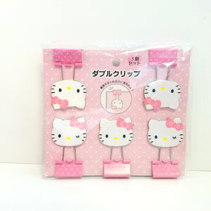 Hello Kitty Pink Binder Clips