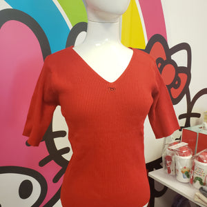 Hello Kitty Women's Red Knit Shirt