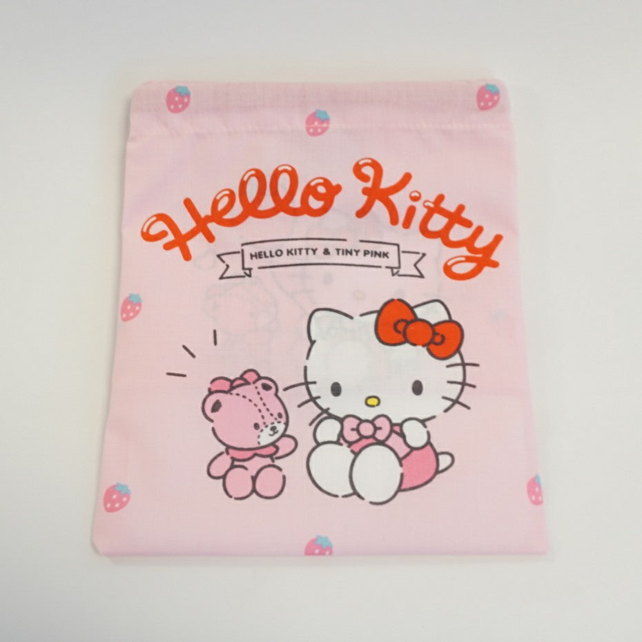 Hello Kitty Pink Drawstring Lunch Bag