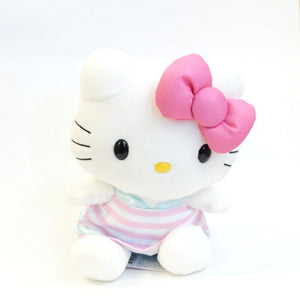 "Hello Kitty Pink Stripe 8"" Plush"