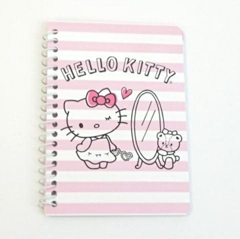 Hello Kitty Pink Stripe Mini Notebook