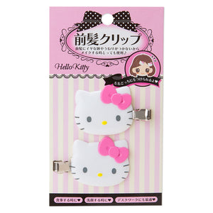 Hello Kitty Pink Bow Bangs Hair Clips
