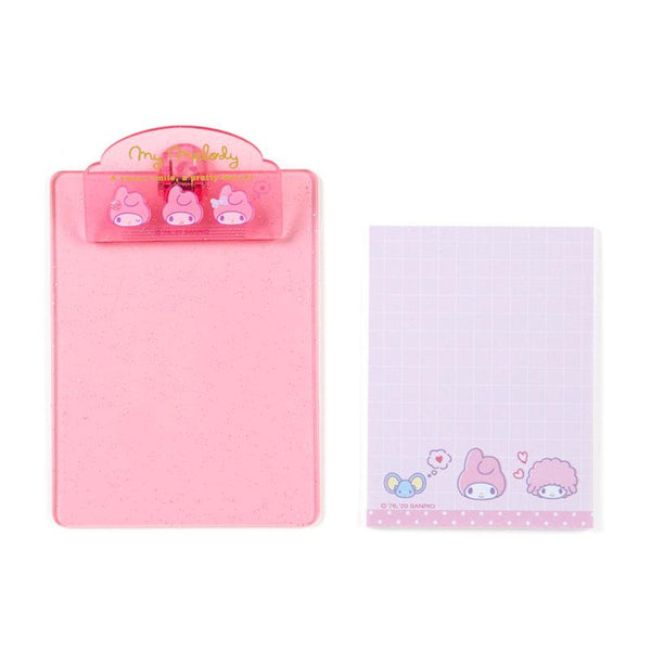Sanrio Characters Sparkle Mini Clipboard and Memo Pad