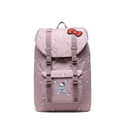 Herschel x Hello Kitty Hickory Stripe Little America Mid Volume Backpack