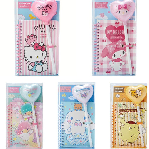 Sanrio Characters Notebook and Balloon Pen