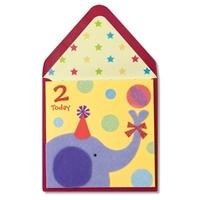 Papyrus Elephant 2 Years Old Birthday Card