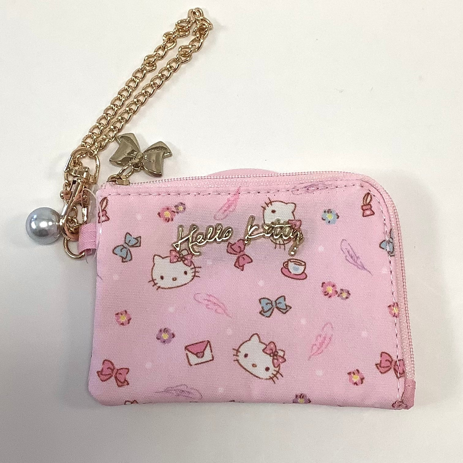 Hello Kitty Pink Letter Coin Purse
