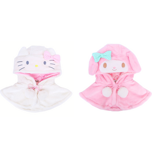 Sanrio Characters Furry Winter Kids Cape