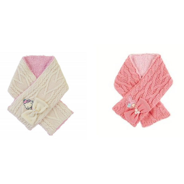 Sanrio Characters Cable Knit Winter Kids Scarf