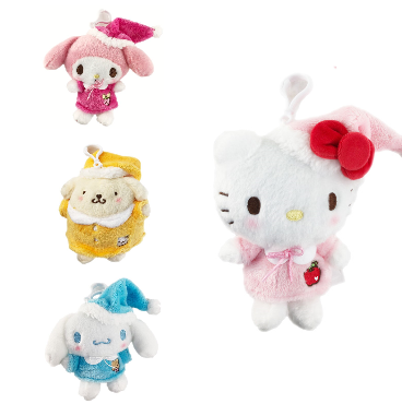 Sanrio Characters 2020 Holiday Pajama Clip-On Mascot
