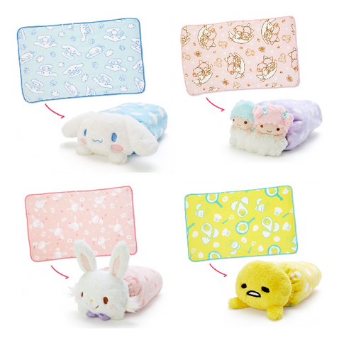 Sanrio Characters Soft Boa Blanket with Plush Case