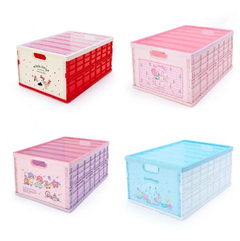 Sanrio Characters Large Folding Storage Box w/ Lid