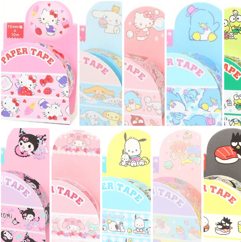 Sanrio Characters Paper Tape 15mm x 10m