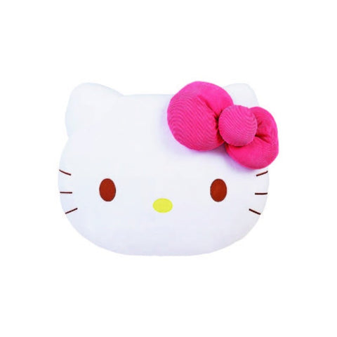 Hello Kitty Corduroy Bow Big Face Cushion