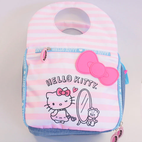 Hello Kitty Pink Stripes Lunch Bag