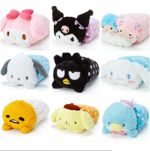 Sanrio Characters Soft Blanket with Plush Case