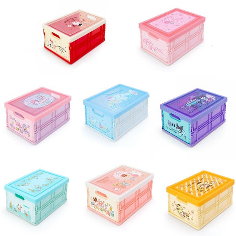 Sanrio Characters Medium Folding Storage Box w/ Lid