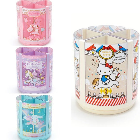 Sanrio Characters Rotating Carousel Pen Stand