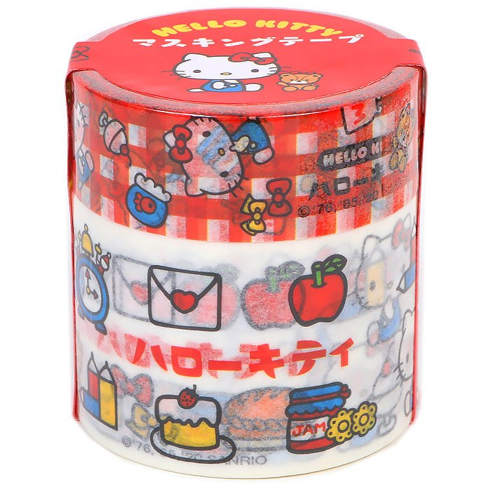 Hello Kitty Katakana Washi Tape