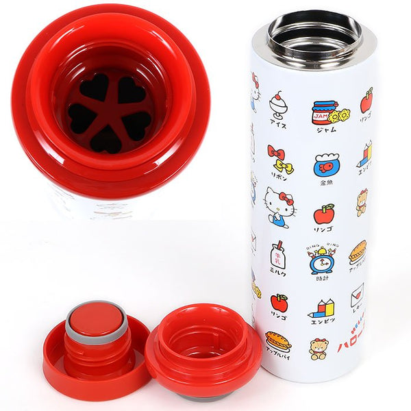 Hello Kitty Katakana Stainless Steel Bottle