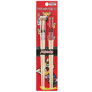 Aggretsuko Bamboo 2pc Chopsticks