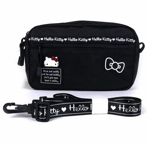 Hello Kitty Black Shoulder Pouch