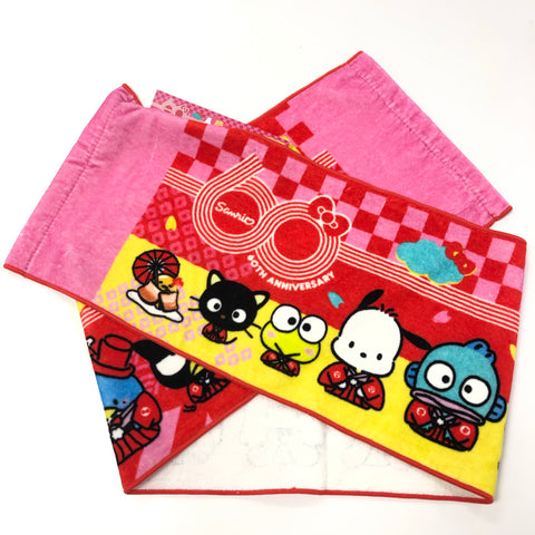 Sanrio Characters 60th Anniversary Long Towel