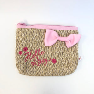Hello Kitty Straw Cherry Blossoms Pouch