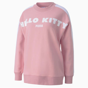 Hello Kitty x Puma Women's Pink Crewneck Sweatshirt