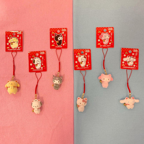 Sanrio Characters Lucky Cat Charms