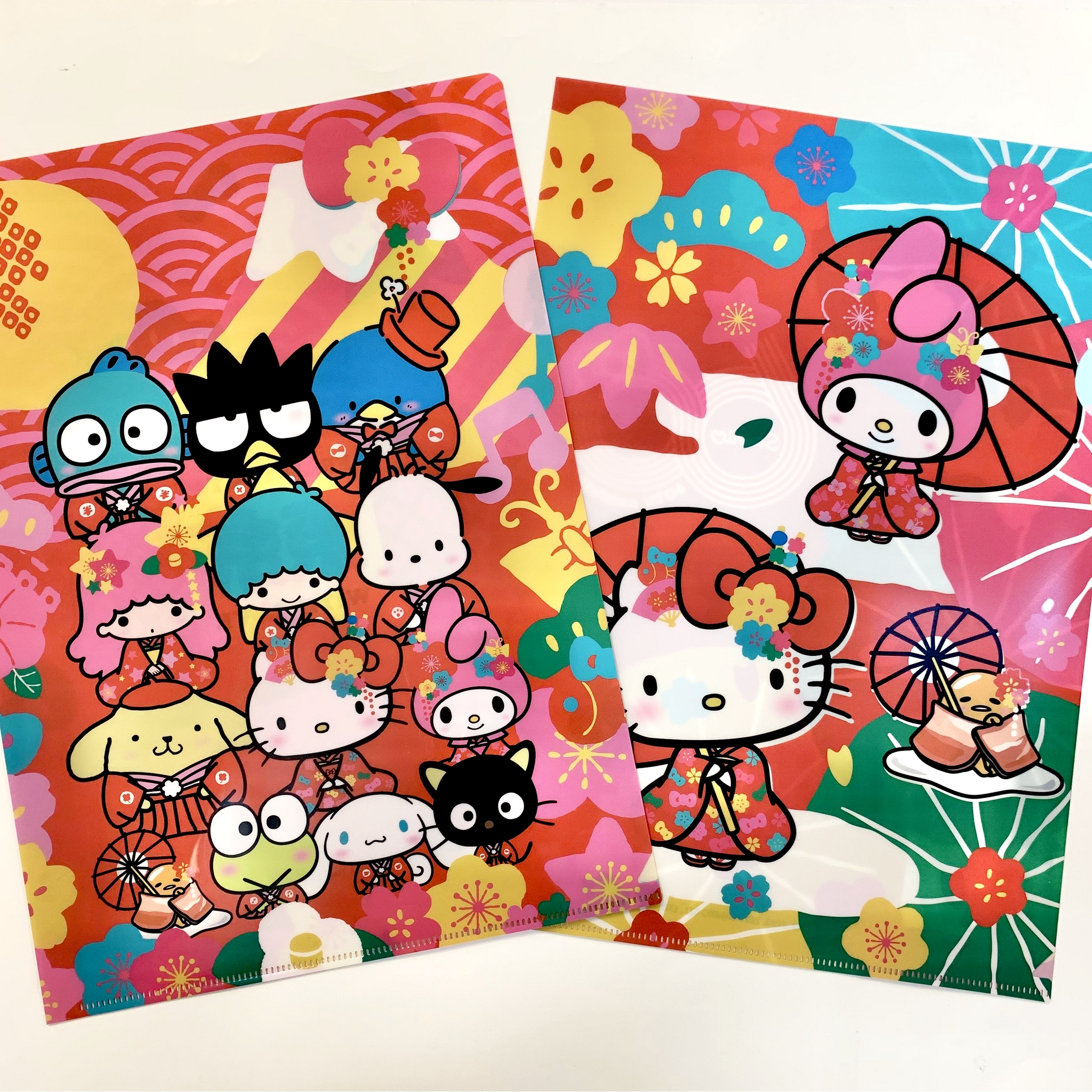 Sanrio Characters 60th Anniversary Clear File Set