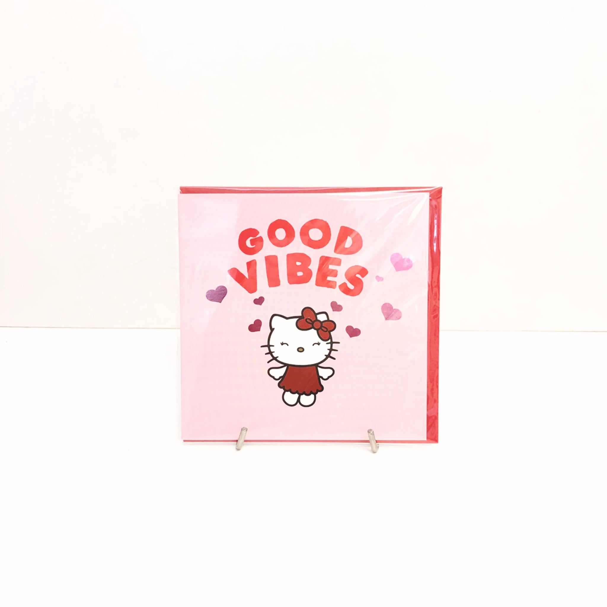 Hello Kitty Good Vibes Card by Jolly Awesome